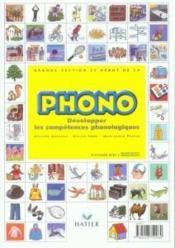Phono ; développer les compétences phonologiques ; maternelle ; GS et début de CP ; guide du maître - Couverture - Format classique