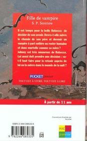 Fille De Vampire - 4ème de couverture - Format classique