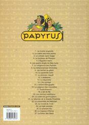 Papyrus t.27 ; la fureur des dieux - 4ème de couverture - Format classique