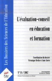 L'évaluation-conseil en éducation et formation - Couverture - Format classique