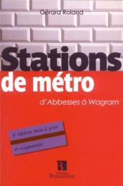 Les stations de métro - Couverture - Format classique