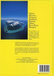 Archipel Societe Tahiti Et Ses Iles - 4ème de couverture - Format classique