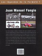 Juan-manuel fangio - la course faite homme - 4ème de couverture - Format classique