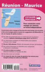 Voyager Pratique ; Réunion, Maurice, Rodrigues - 4ème de couverture - Format classique