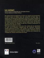 Le contact - 4ème de couverture - Format classique