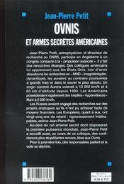 Ovnis et armes secretes americaines - 4ème de couverture - Format classique