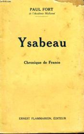 Ysabeau. Chronique De France. - Couverture - Format classique