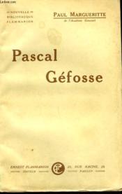 Pascal Gefosse. - Couverture - Format classique