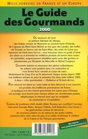 Le guide des gourmands 2000 - 4ème de couverture - Format classique