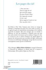 Les pages du ciel - 4ème de couverture - Format classique