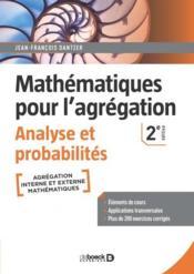 Mathématiques pour l'agrégation : analyse et probabilités (2e édition) - Couverture - Format classique