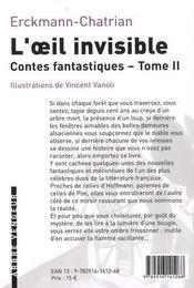 L'oeil invisible et autres contes fantastiques t.2 - 4ème de couverture - Format classique