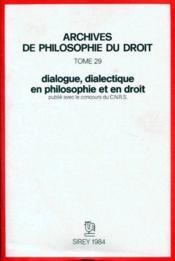 Dialogue, dialectique en droit et en philosophie - Couverture - Format classique