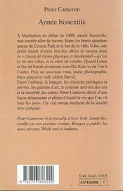 Annee Bissextile - 4ème de couverture - Format classique