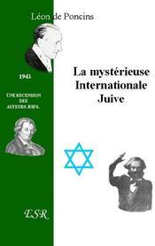 La Mysterieuse Internationale Juive - Couverture - Format classique