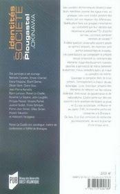 Identités et société ; de plougastel à okinawa - 4ème de couverture - Format classique
