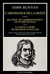 Abondance De La Grace (L') - Couverture - Format classique