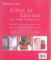 Droles De Gateaux Pour Toutes Les Emotions - 4ème de couverture - Format classique