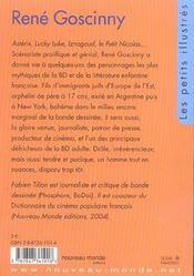 René Gosciny - 4ème de couverture - Format classique