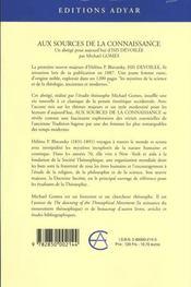 Sources de la connaissance (aux) - 4ème de couverture - Format classique