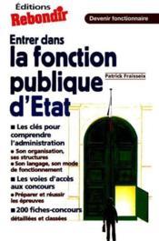 Entrer Dans La Fonction Publique De L'Etat - Couverture - Format classique