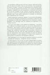 Procedures collectives - 4ème de couverture - Format classique