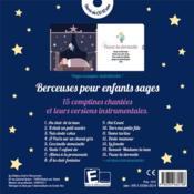Berceuses Pour Enfants Sages - 4ème de couverture - Format classique