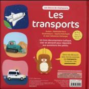 Les transports - 4ème de couverture - Format classique