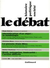 Revue Le Débat N.85 ; mai-août 1995 - Couverture - Format classique