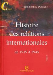 Histoire des relations internationales de 1919 à 1945 (12e édition) - Intérieur - Format classique