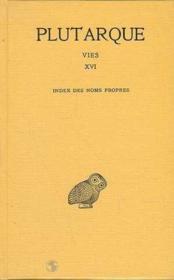 Vies ; index des noms propres - Couverture - Format classique