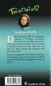 Toi+moi=coeur T.7 ; Le Garcon D'A Cote - 4ème de couverture - Format classique