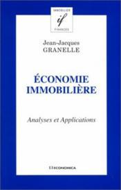 Economie Immobiliere : Analyses Et Applications - Couverture - Format classique