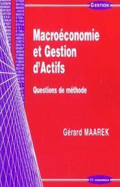 Macroeconomie Et Gestion D'Actifs - Intérieur - Format classique