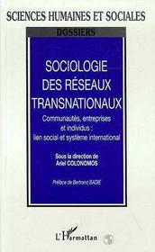 Sociologie Des Reseaux Transnationaux - Intérieur - Format classique