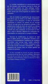 Sociologie Des Reseaux Transnationaux - 4ème de couverture - Format classique