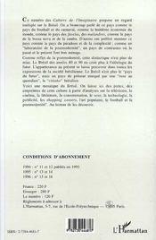 Anthropologies Bresiliennes - 4ème de couverture - Format classique