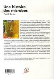 Une histoire des microbes - 4ème de couverture - Format classique