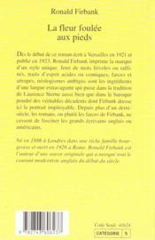 La Fleur Foulee Aux Pieds - 4ème de couverture - Format classique