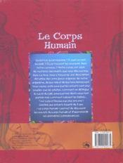 Le corps humain - 4ème de couverture - Format classique