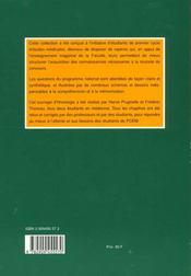 Histologie Pcem - 4ème de couverture - Format classique