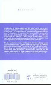 La Responsabilite Penale Du Medecin Les Principales Infractions Contre Les Personnes - 4ème de couverture - Format classique