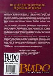 Aikido, un guide pour la prévention et guérison de lésions - 4ème de couverture - Format classique