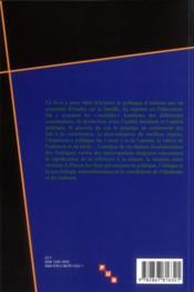 Politique d'Aristote ; famille, régimes, éducation - 4ème de couverture - Format classique