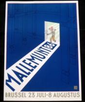 Affiche Joost Swarte Mallemunt 86. Brussel 23 Juli - 8 Augustus. Numérotée 306/750. Signée. - Couverture - Format classique