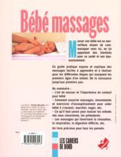 Bebe massages - 4ème de couverture - Format classique