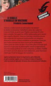 Le diable s'habille en Voltaire - 4ème de couverture - Format classique