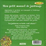 Petit manuel de jardin nouvelle edition - 4ème de couverture - Format classique