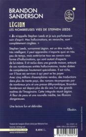 Légion ; les nombreuses vies de Stephen Leeds - 4ème de couverture - Format classique