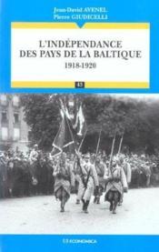 L' Independance Des Pays De La Baltique ( (1917-1920) - Couverture - Format classique